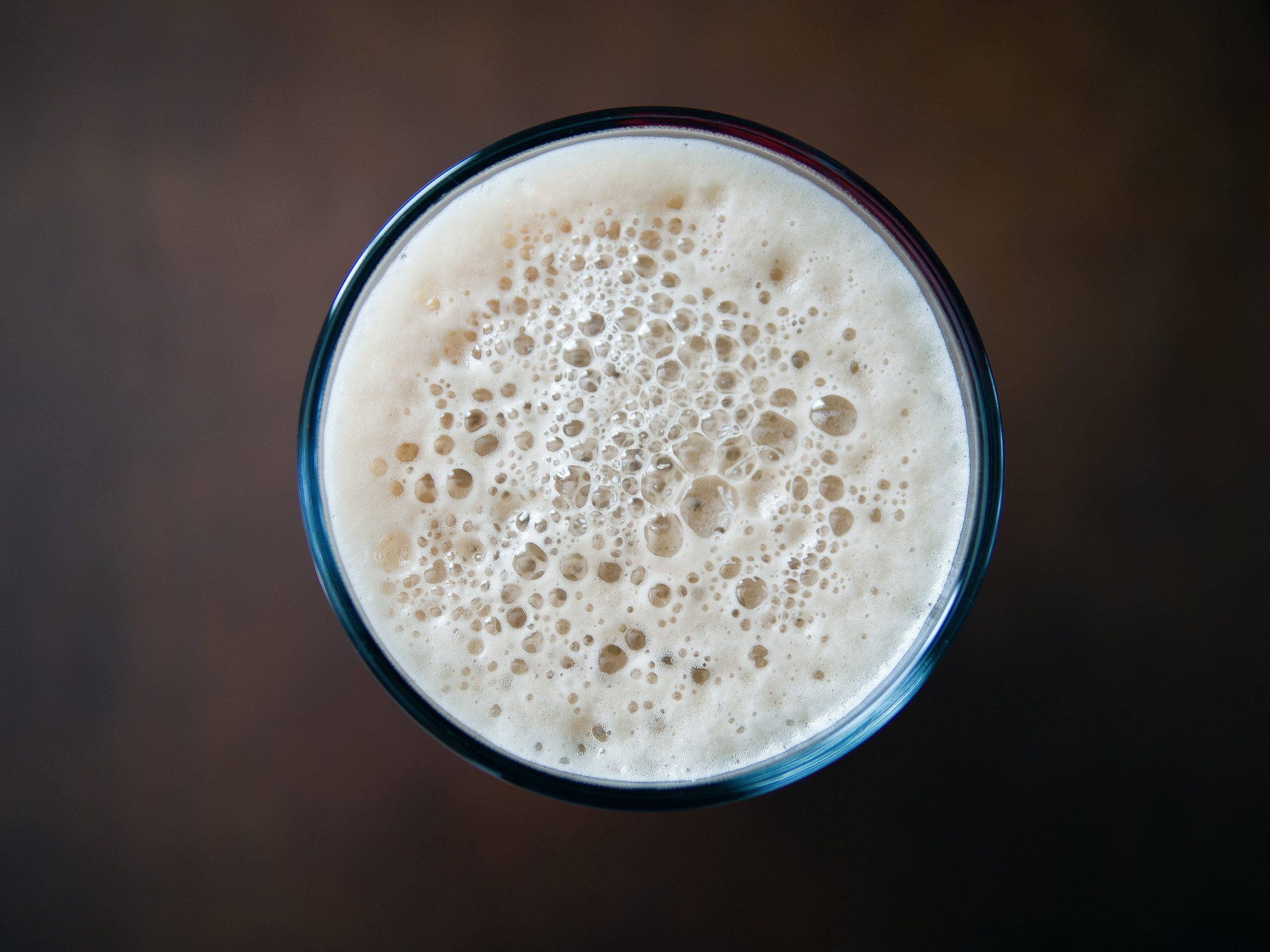 milk on glass